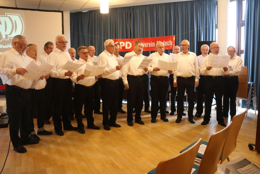"Freundschaft-Concordia 1878 e.V singt das ""Bürgerlied"" zur 125 Jahr-Feier der SPD-Malsch"